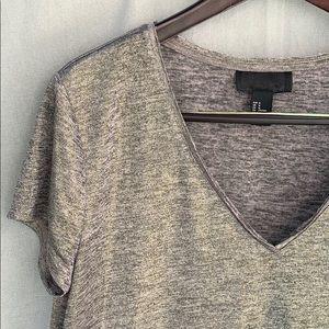 H&M wrinkle-free sparkly festive V-neck top